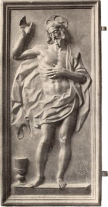 Jesus Risen bronze plaque