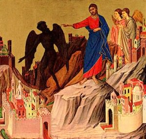 Icon of Jesus Tempted in the Desert