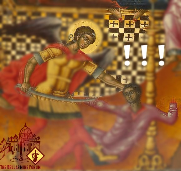 Dormition icon detail showing the sliced hands of Anthonius