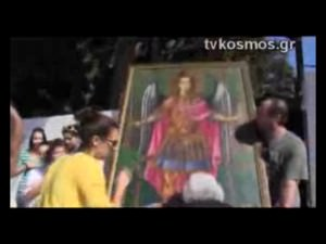 Procession of weeping icon