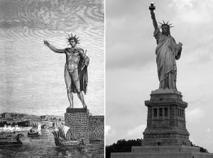 colossus and statue of liberty