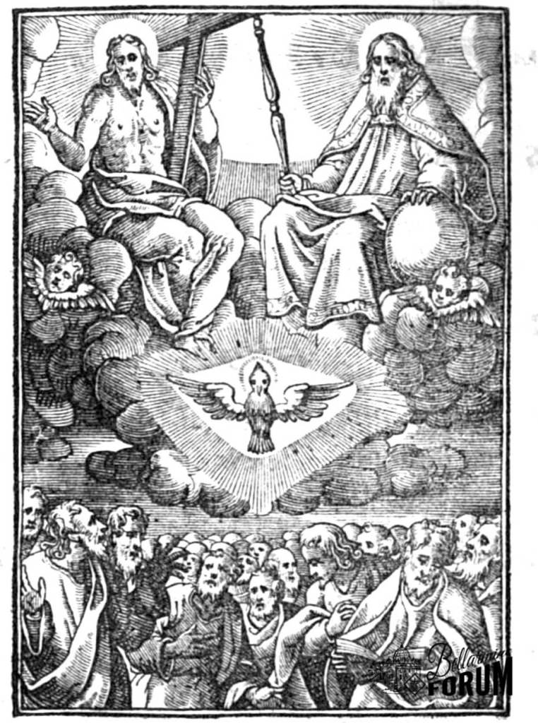 The Unity and Trinity of God means that in God there is one only Divinity. or as we say, Essence and divine nature, which nevertheless is in three Divine Persons, that are called Father, Son, and Holy Spirit.