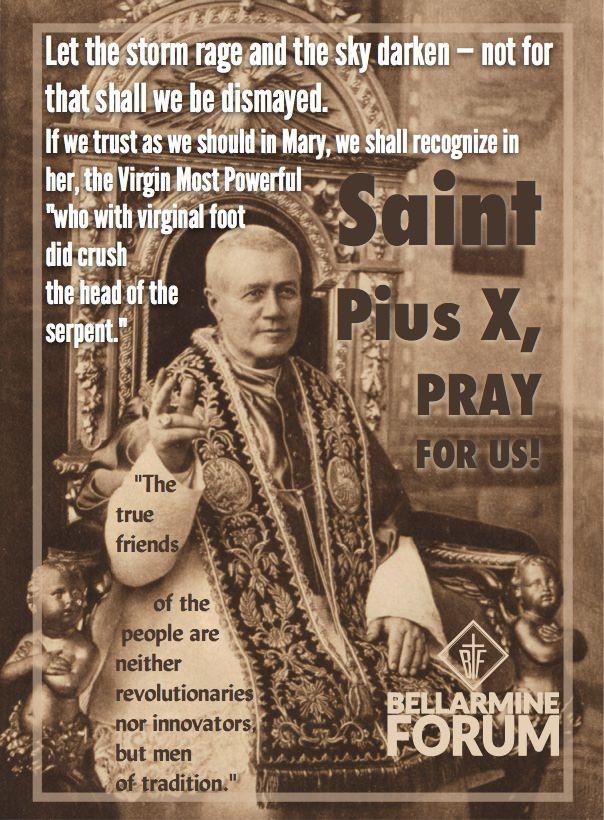 Bellarmine Forum. St Pius X