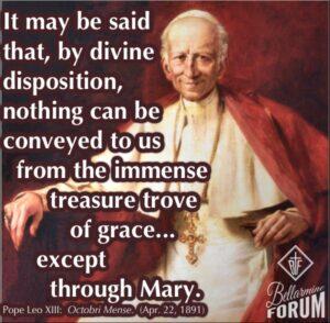 Pope Leo XIII quote rosary octobri mense